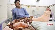 १०३ दिनसम्म अस्पतालको शय्यामा रहेका सुनिल भन्छन्- धन्न मेरो खुट्टा काट्नु परेन